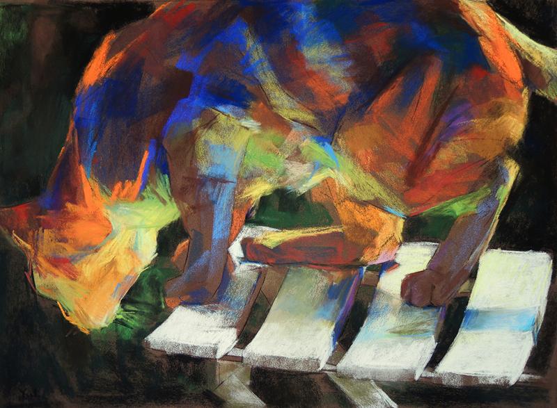 Outside Wonder (pastel) by Yael Maimon