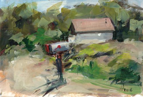 Thompson Road (acrylic) by Richard M. Greene