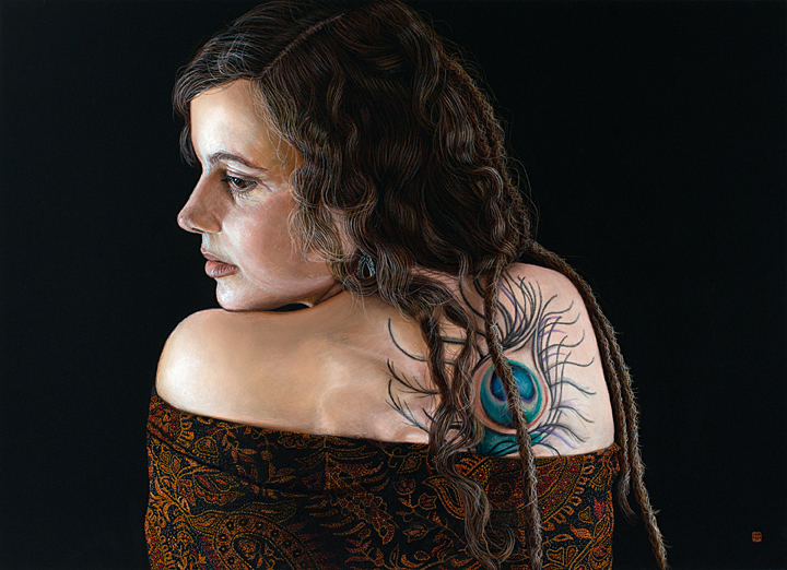 Leah (pastel) by David Wells