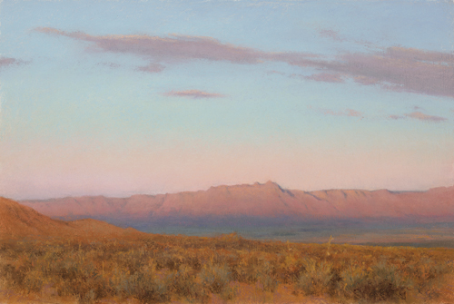Evening's Veil, Vermilion Cliffs (pastel) by Denise LaRue Mahlke | desert southwest