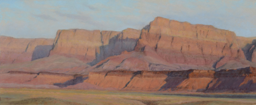 Morning Salutation (pastel) by Denise LaRue Mahlke | desert southwest