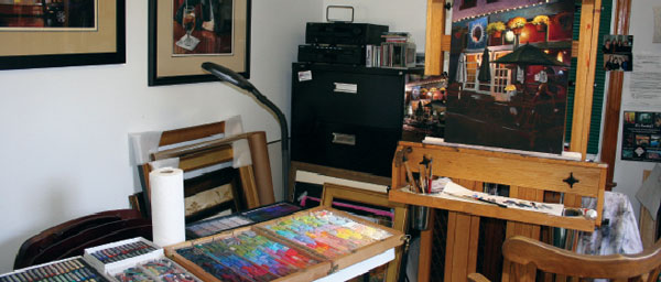Art studio of Christine Ivers
