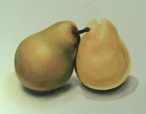 Pear drawing by Lee Hammond, art advice