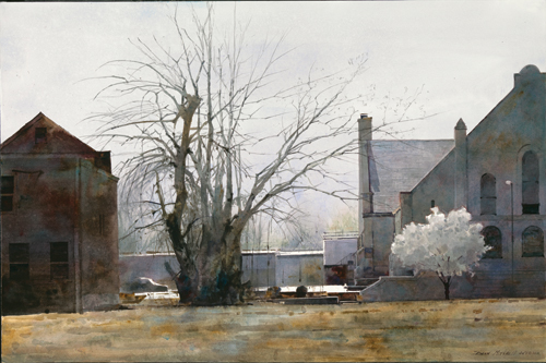 Early Spring, St. Louis (watercolor) by Dean Mitchell