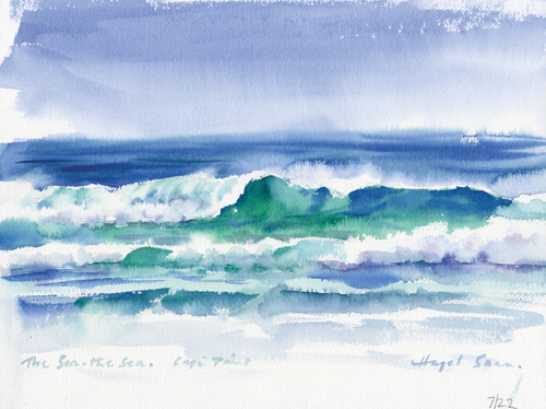 Neptune's Lace (watercolor) by Hazel Soan