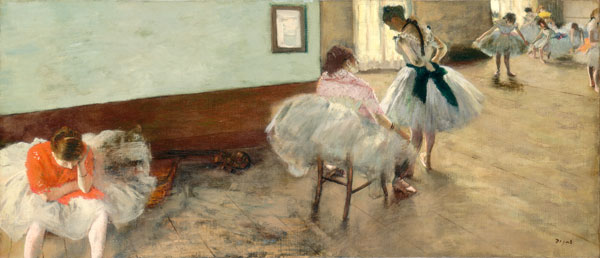 The Dance Lesson by Edgar Degas_Learn how to paint like Degas