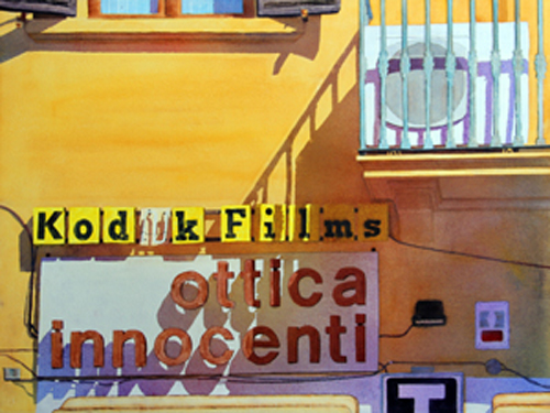 ottica innocenti (watercolor on paper, 22x30) by Cole Wolford | up-and-coming artists