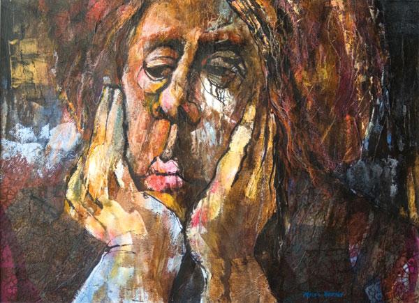 acrylic portrait by Myrna Wacknov