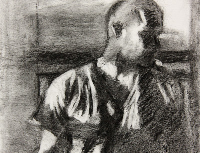 Barth-White charcoal value sketch