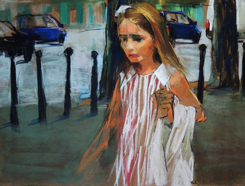 One Way Ticket to Wonderland (pastel, 16x22) by Yael Maimon
