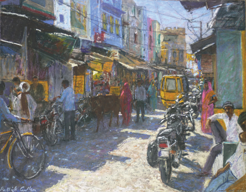 Sadar Bajar Kishengarh (pastel) by Patrick Cullen