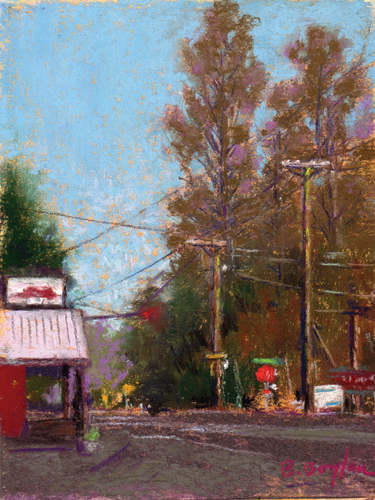 The Cruise In Crossroad (pastel) by Brenda Boylan