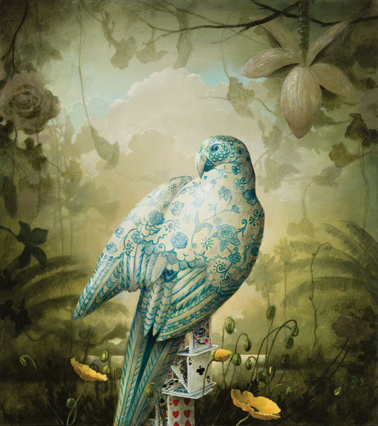 Acrylic bird painting by Kevin Sloan