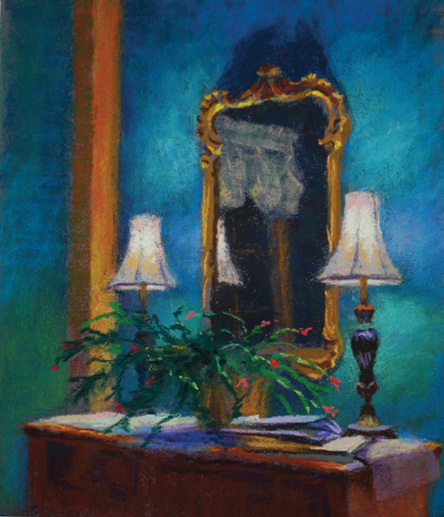 Mirror Mirror (pastel, 12x9) by Diane Rappisi | still life paintings