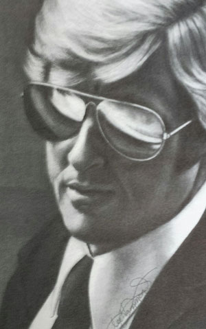 Drawing faces with sunglasses