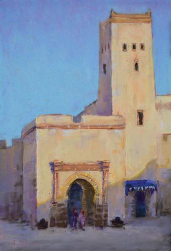 Essaouira Gate (pastel) by Aaron Schuerr