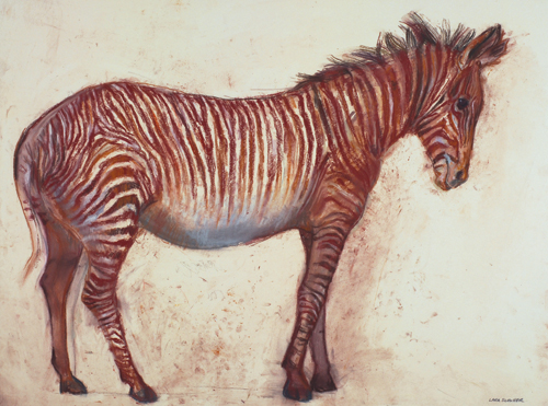 Grevy's Zebra (pastel, 21 1/2x29) by Lara Scouller