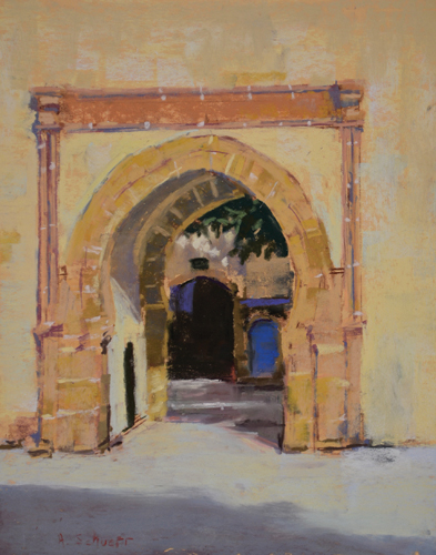 The Morning Gate, Essaouira (pastel) by Aaron Schuerr