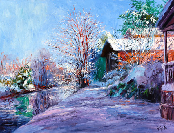 Impressionist landscape painting by George Gallo