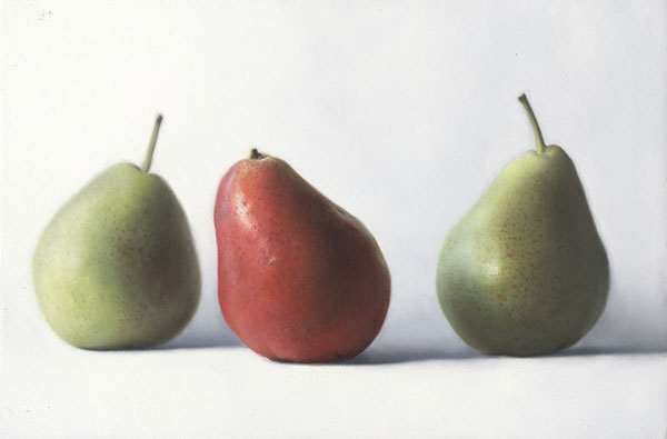 Pears, still life painting by Timothy W Jahn