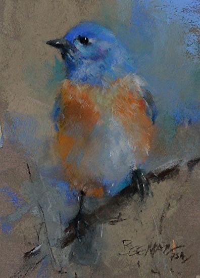 Bluebird (pastel) by Mike Beeman