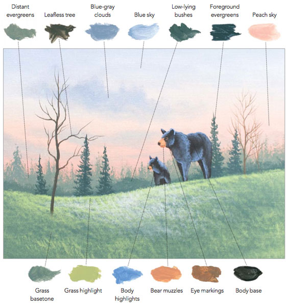Color theory, and how to paint wildlife landscapes