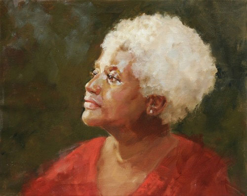 Portrait painting by Chris Saper