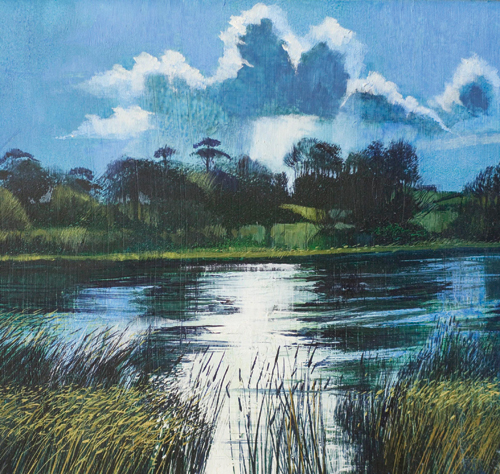 Backwater Bembridge (watercolor on paper) by David Firmstone