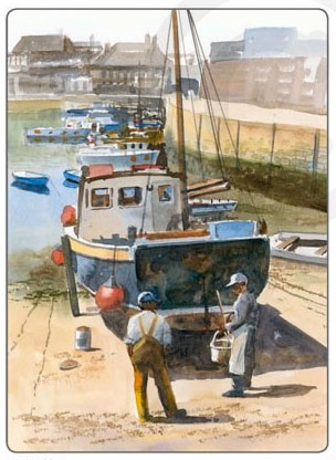 How to paint boats and seascapes