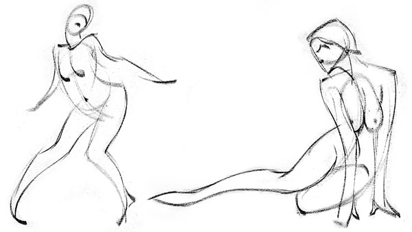 Figure drawing tips for gestural drawing