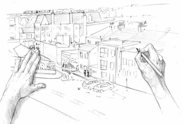 Drawing and urban sketching tips