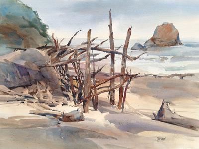 4-Drifters-Hideaway-watercolor-Dale-Laitenin