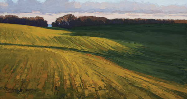 Hillside Sun, Deborah Quinn-Munson, ArtistsNetwork, Palette Knife