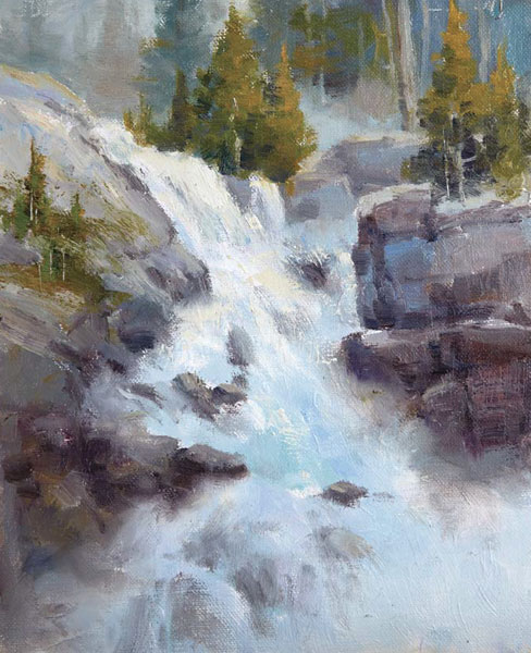 Tips for painting water and waterfalls at ArtistsNetwork.com
