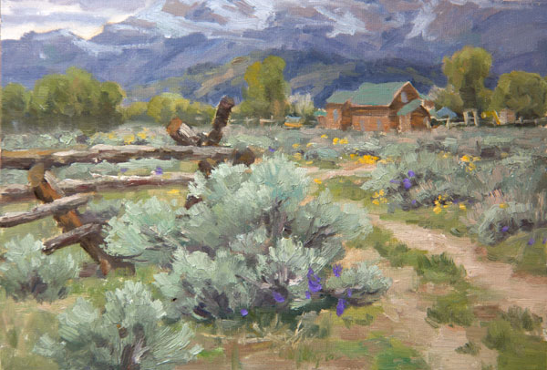 How to paint grass in a landscape painting