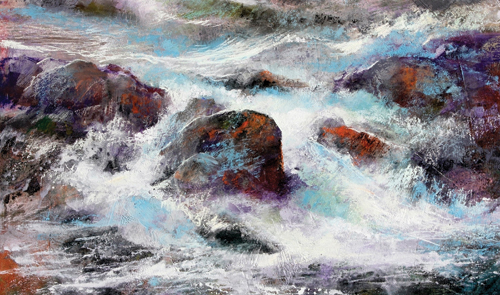 Storm Currents (pastel, 15x19) by Stan Bloomfield | pastel landscapes