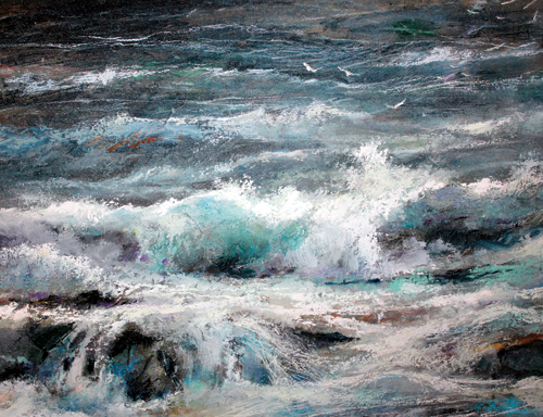 Storm Warning (pastel, 14x20) by Stan Bloomfield | pastel landscapes