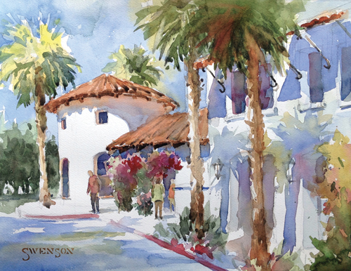 La Quinta CA (watercolor on paper) by Brenda Swenson | plein air painting