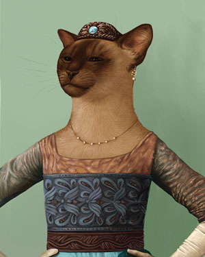 Houndton Tabby (Downton Abbey) art series | ArtistsNetwork.com