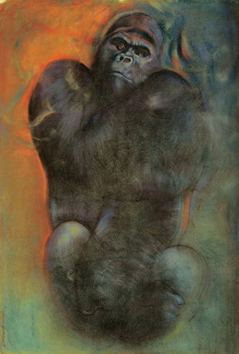 Over My Shoulder (pastel) by Bob Ziering