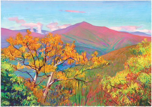 View of Mt. Pisgah, South of Asheville (pastel, 18½x26½) by Charles Basham | landscape painting