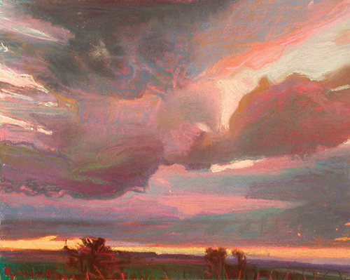 Weight of the Sky (pastel, 10¾x13¾) by Charles Basham | landscape painting