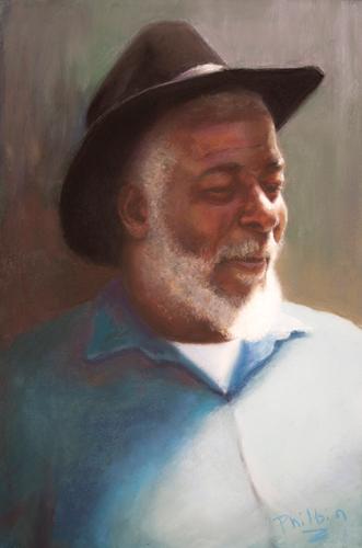 Bo (pastel) by John Philbin Dolan   portrait