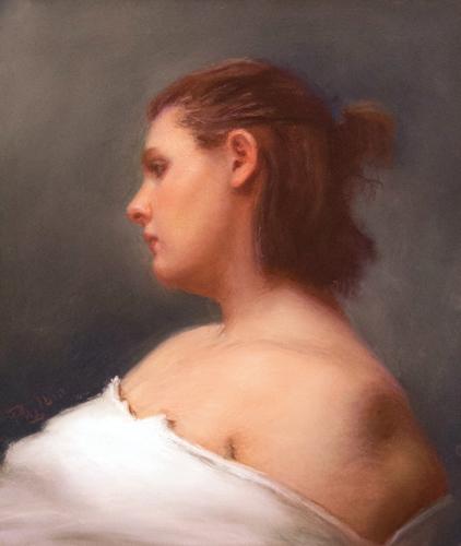 Silvia (pastel) by John Philbin Dolan   portrait