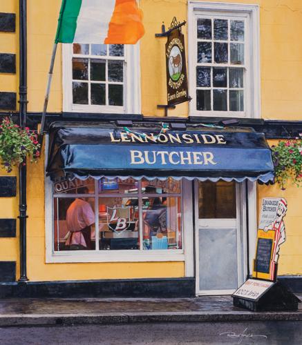 Lennonside, Ireland (watercolor on paper, 24x26) by Rance Jones | watercolor painting