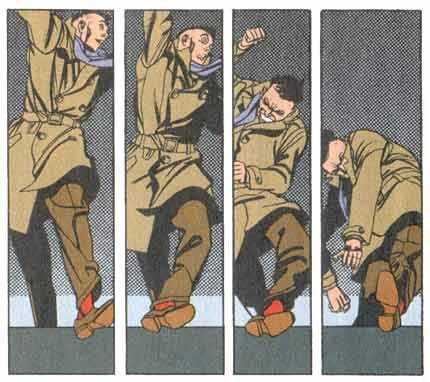 Panels from Bernie Krigstein's Master Race.