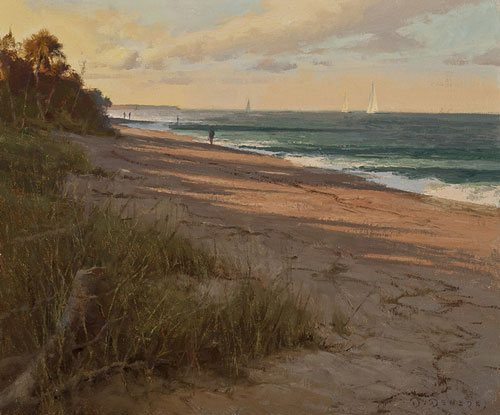 Morning Shadows by Don Demers, 10 x 12, oil painting.
