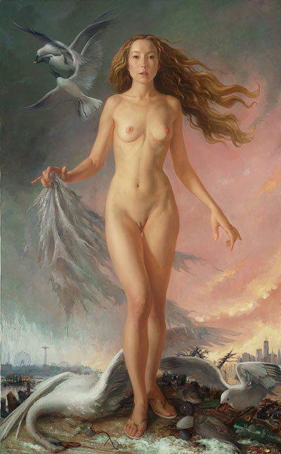 Venus Apocalypse by Patricia Watwood, 2013, oil on canvas,  64 x 40.