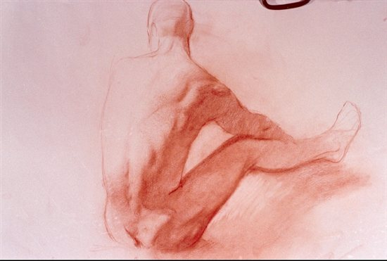 Male turning--drawing by Dan Gheno
