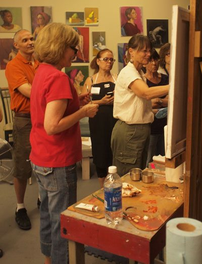 Lea Colie Wight, oil painter and top instructor, led the workshop.